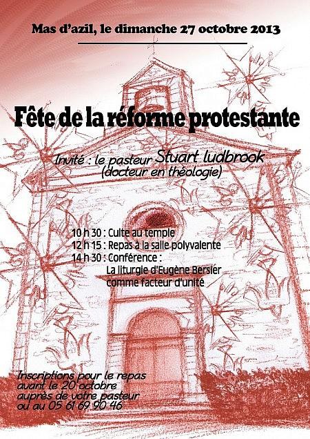 Affiche fête de la réforme protestante - 27/10/2013